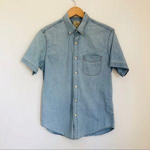 J. Crew Stretch short sleeve shirt chambray